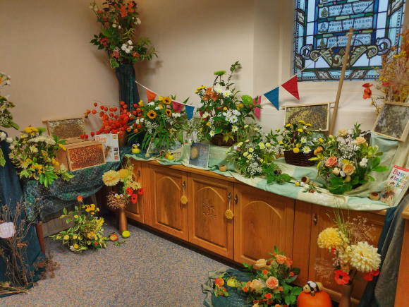 Part of our harvest display